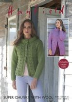Hayfield Super Chunky with Wool - 8025 Jackets Knitting Pattern